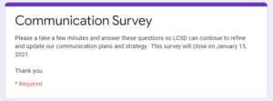 LCSD Communication Survey