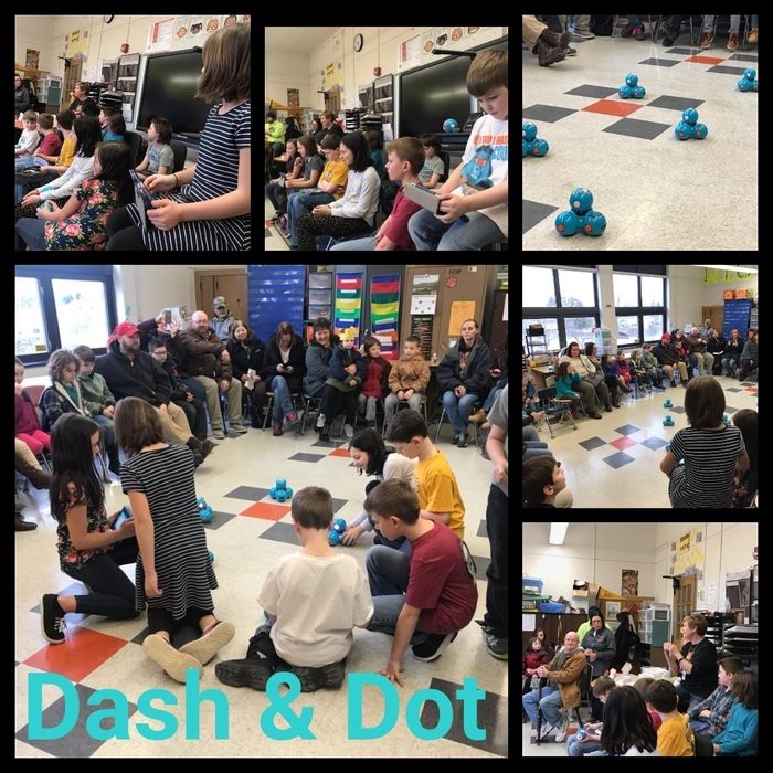 Mrs. Suhr and Ms. Pitzrick host Dash & Dot event