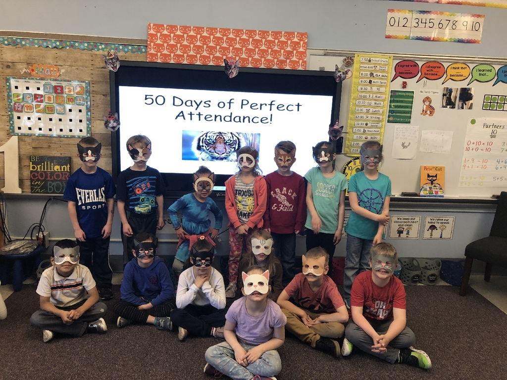 Purrrfect Attendance cat party