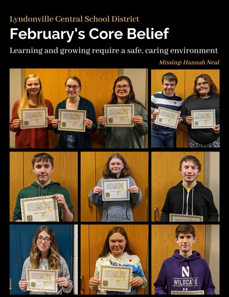 February Core Belief Students