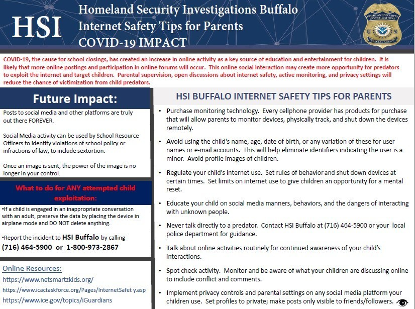 HSI Internet Safety Tips
