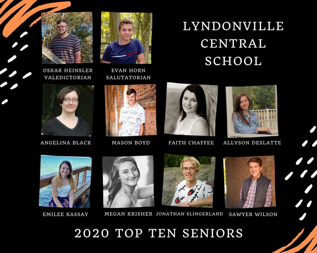 LCSD announces top ten seniors